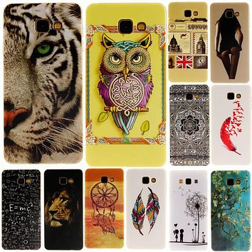 Soft TPU Flower Printed Case For Samsung GALAXY S3 S4 S5 Mini S6 S7 edge A3 A5 j3 j5 j7 2016 G530 Gel Silicone Back Phone Cover