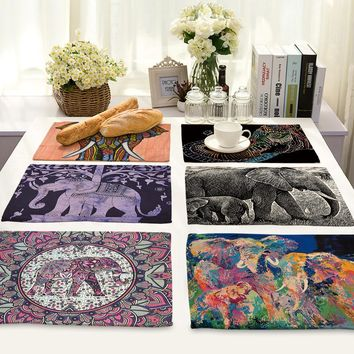 Elephant Themed Placemats -12 Styles