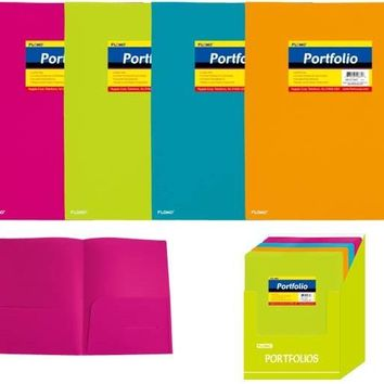 Poly Portfolio Folder with Two Inner Pockets (Style #28D) - CASE OF 48