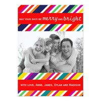Merry and Bright Photo Holiday Card