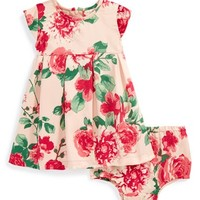 Infant Girl's Ruby & Bloom Floral Print Dress & Bloomers,