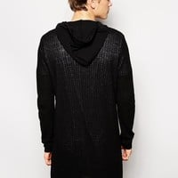 ASOS | ASOS Extreme Longline Hoodie with Zip at ASOS