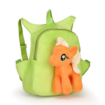New Sweet Rainbow Horse Toy backpack for kids