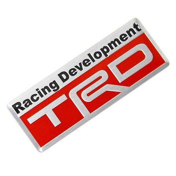 New Auto Car Styling 3D Racing Development TRD Sticker Emblem Decal for Toyota Car Tail Fender Exterior Body Decoration 80*30mm