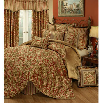 Pacific Coast Home Furnishings Inc. BOT309040-Q Austin Horn Classics Botticelli Four-Piece Queen Bedding Collection