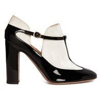 Valentino High-Heel Mary Jane Bootie - Patent Leather Heel - ShopBAZAAR