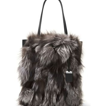 Michael Kors Large Eleanor Genuine Fox Fur Tote | Nordstrom