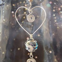 Wacky Wire Glass Ball Earth Love Suncatcher by itsmythingdesigns