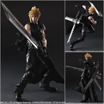 PlayArts KAI Final Fantasy VII Cloud Strife PVC Action Figure Collectible Model Toy 26cm KT1744
