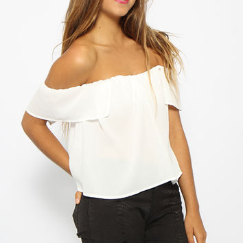 Mesmerism Top - White