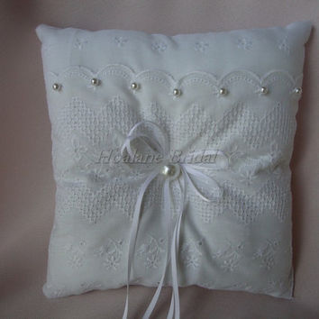 Ring Pillow, White square ring pillow