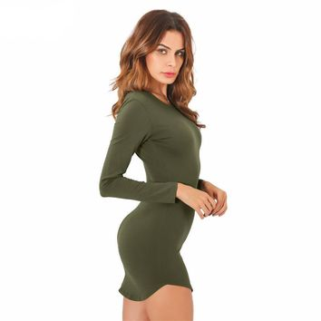Mini Slim Long Sleeve Dress