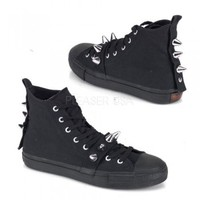 Demonia Spikes & Straps Sneakers :: VampireFreaks Store :: Gothic Clothing, Cyber-goth, punk, metal, alternative, rave, freak fashions