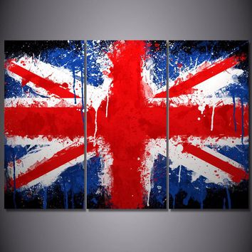 Union Jack Limited Edition 3-Piece Wall Art Canvas