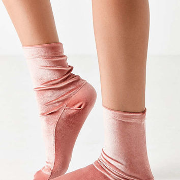 Out From Under Velvet Ankle Sock | Urban Outfitters
