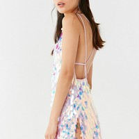 Motel Colette Strappy Sequin Mini Dress | Urban Outfitters