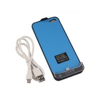 External Battery Backup Charger Case Pack Power Bank for iPhone 5 5G (Black)