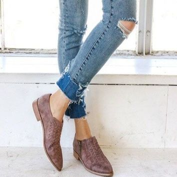 Mimi Western Braided Front Ankle Booties