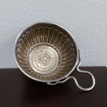Sterling Silver Cup with a 1932 Un Peso Mexican 72% Coin