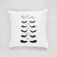 Eye Lashes Pillow, Fashion Pillow, Home Decor, Cushion Cover, Throw Pillow, Beauty Decor, Bed Pillow, Decorative Pillow, Glamour Pillow