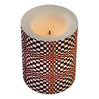 Abstract Squares 10 Flameless Candle