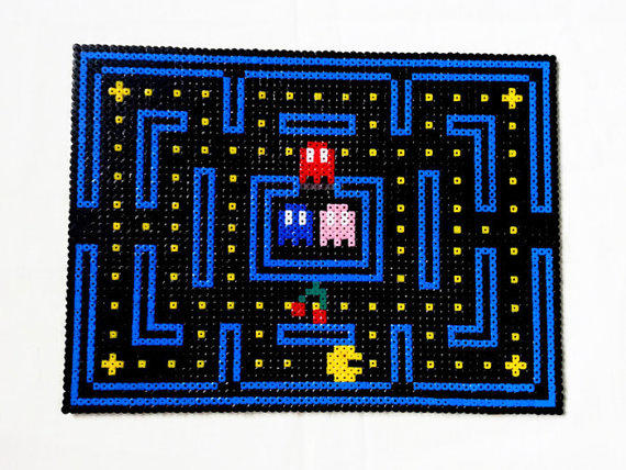 Pacman Dining Table Place Mats Hama From Kim S Geekery