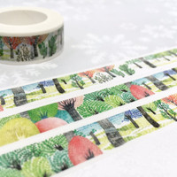colorful Tree washi tape 10M colorful forest tree washi tape fairy tale tree scenes landscape scenes sticker tape the beauty of nature