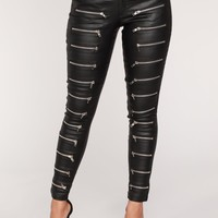 Zip It Up Pants - Black