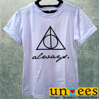 The Deathly Hallows Logo Always Women T Shirt