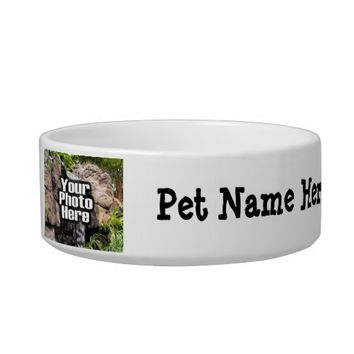 Personalized Photo and Name Custom Pet Bowl Dish