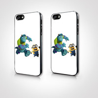 PGP-098 - Minions and Monster Case - Minions Case  - Iphone 4 Case - Iphone 4s Case - Iphone 5 Case - 2D Iphone Case - Hard Plastic Case