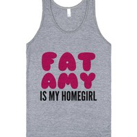 Fat Amy Is My Homegirl Tank Top (idb511405)-Athletic Grey Tank