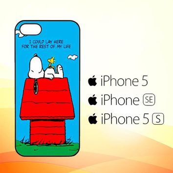 Peanuts Snoopy Rest of My Life V 2097  iPhone 5|5S|SE Case