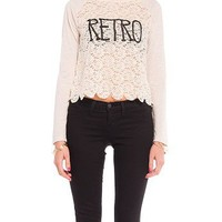 Laced Retro Baseball Sweater - 2020AVE