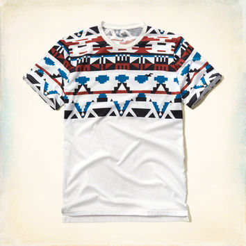 Pattern Blocked T-Shirt
