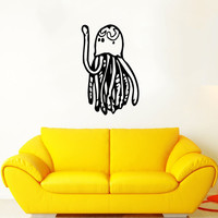 Jellyfish Wall Decal Scuba Tentacles Deep Sea Ocean Fish Wall Decals Vinyl Sticker Interior Home Decor Vinyl Art Wall Decor Bedroom SV5819