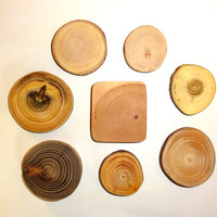 Pendant findings 8 pieces. strong natural wood. Jewelry supply findings. Natural wood colors, texture, resistant, durable. Jewelry supplies.