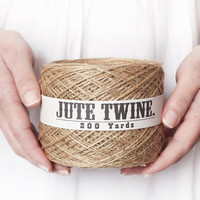 Jute Twine -  200 Yard Ball, 2-Ply Rustic Burlap Craft String