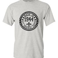 Made in 1944 All Original Parts Tshirt. 71st Birthday Shirt.  Funny Birthday Tshirts. Ladies and Mens Unisex Styles. Makes A Great Gift.