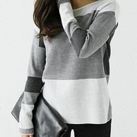 LOOSE STRIPED LONG-SLEEVED SHIRT