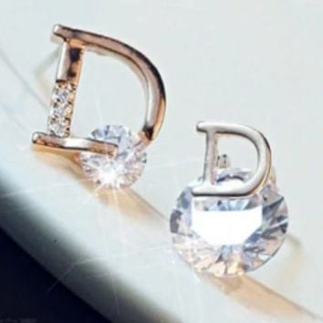 DIOR New fashion letter diamond women earring accessories ca39c2a5e6