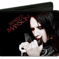 Marilyn Manson Men's Clutching Collar Pose Bi-Fold Wallet