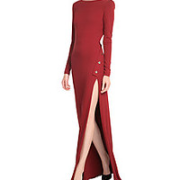 Elie Saab - Floor Length Gown with Statement Buttons