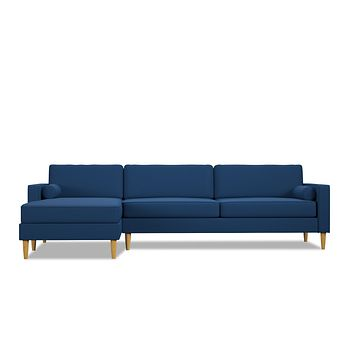 Samson 2pc Sectional Sofa :: Leg Finish: Natural / Configuration: LAF - Chaise on the Left