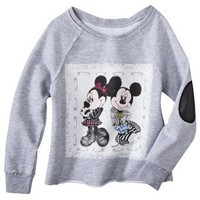 Disney® Infant Toddler Girls' Mickey and Minnie Mouse Sweatshirt - Grey