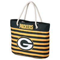 Green Bay Packers Official NFL Nautical Stripe Tote Bag