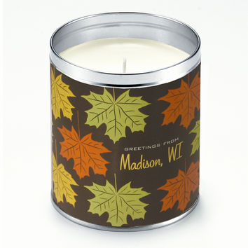 Leaf Greetings Candle