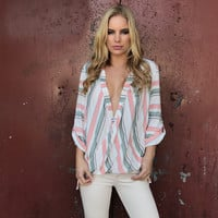 Fierce Summer Stripe Blouse