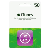 Apple iTunes $50 Gift Card (Packaging May Vary)
