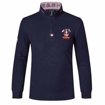 polo shirt masculina volkswagen polo shirt Mens Long sleeves collar embroidered Mens winter clothes clothing